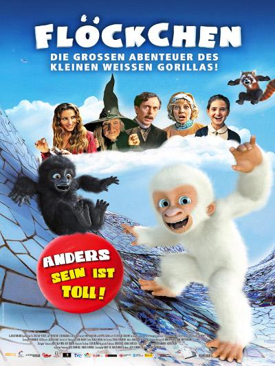 La versión alemana del póster de Copito de Nieve