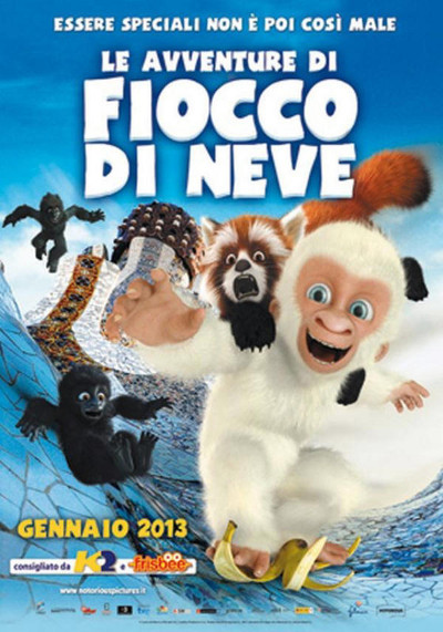 La versión italiana del póster de Copito de Nieve