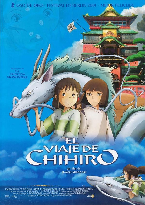 "El poster de la película ""El viaje de Chihiro"""